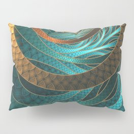Beautiful Corded Leather Turquoise Fractal Bangles Pillow Sham