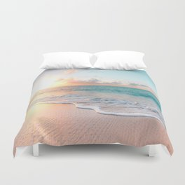 Pink Sea Duvet Cover