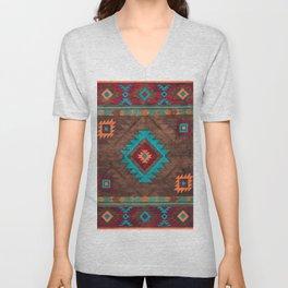 Bohemian Traditional Southwest Style Design Unisex V-Neck