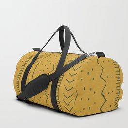 Moroccan Stripe in Mustard Yellow Duffle Bag