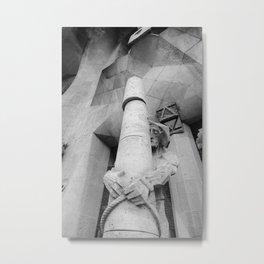 Passion Facade Sagrada Familia BW Metal Print