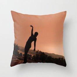 Somber Fire Haze Throw Pillow