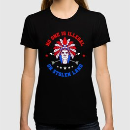 No One Is Illegal Native American Gift T-shirt