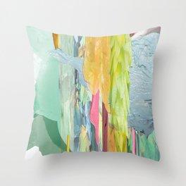 Water Falling Throw Pillow
