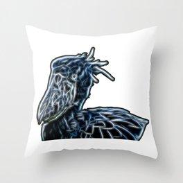 Shoebill Throw Pillow