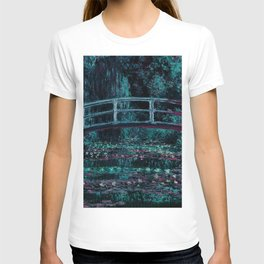 Monet The Water Lily Pond Teal Purple T-shirt