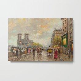 Notre Dame Cathedral, Paris, France by Antone Blanchard Metal Print