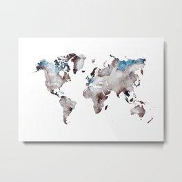 world map 73 Metal Print