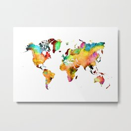 world map 71 Metal Print