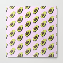 Avocado organic print Metal Print