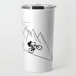 cycling mountain bike mountainbike cyclist bicycle MTB gift Travel Mug