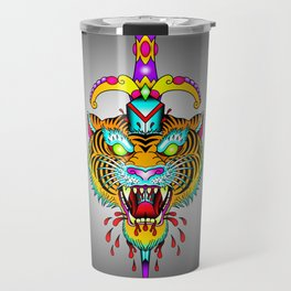 Tiger Meets Dagger Travel Mug