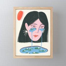 Water Lily Tears Framed Mini Art Print