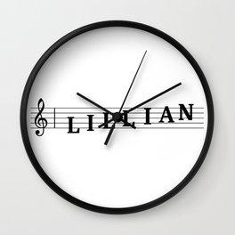 Name Lillian Wall Clock