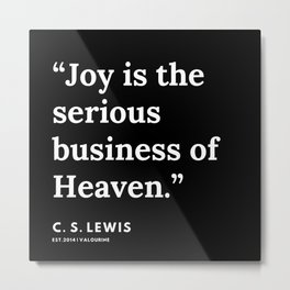 104   | 191121 | C. S. Lewis Quotes Metal Print