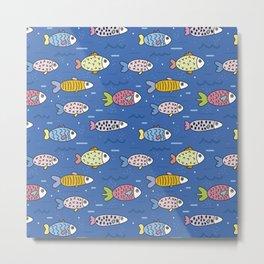 Colorful Fish Swimming Metal Print