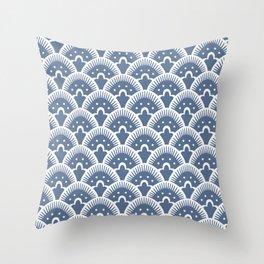 Fan Pattern 331 Monaco Blue Throw Pillow