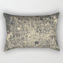 Minneapolis Map yellow Rectangular Pillow