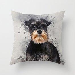 Miniature Schnauzer Throw Pillow