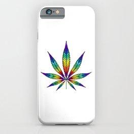 Cannabis Rainbow Leaf iPhone Case