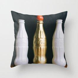 Soda Bottle Realness Throw Pillow