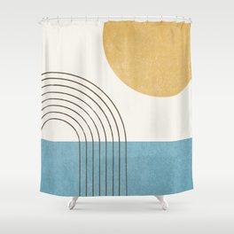 Sunny ocean Shower Curtain