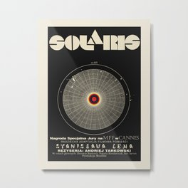 Vintage Polish movie poster for premiering Solaris at the Cannes Film Festival, 1972. Metal Print