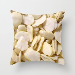 Fava beans Throw Pillow