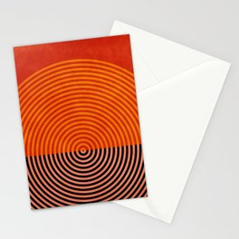 lines and shapes 1 abstract geometric Stationery Cards