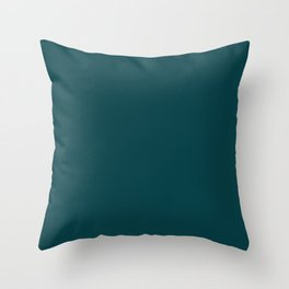 Color dark turquoise Throw Pillow