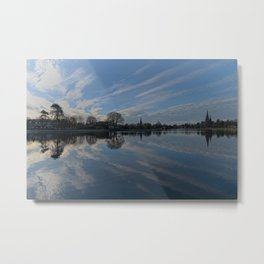 Lichfield Cathedral And The Stowe Pool Metal Print