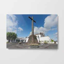 Azorean chapel Metal Print