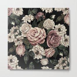 Rose Flower Pattern  Metal Print