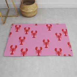 Lobster Pink Red Sea Food Rug
