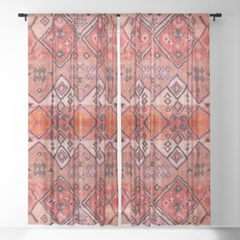 Epic Rustic & Farmhouse Style Original Moroccan Artwork  Sheer Curtain