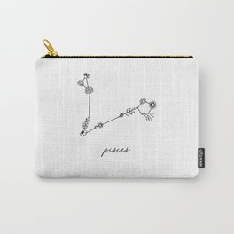 Pisces Floral Zodiac Constellation Carry-All Pouch