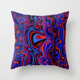 another face emerges Throw Pillow