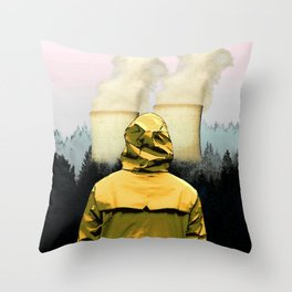 The Power Plant and Forest Throw Pillow