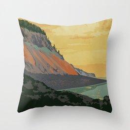 Five Islands Provincial Park Poster Throw Pillow