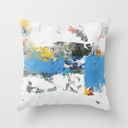 Crow Abstract Art Throw Pillow