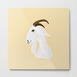 White goat head Metal Print