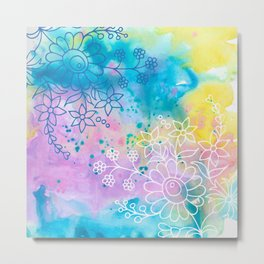 Watercolour abstract floral 4 Metal Print