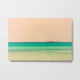 Tropical Waters in Bahamas Island on Horizon Metal Print