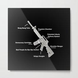 Anatomy of a Gun – Humor – Rifle Metal Print