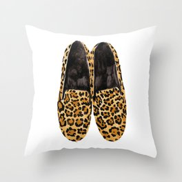 Leopard Loafers Throw Pillow