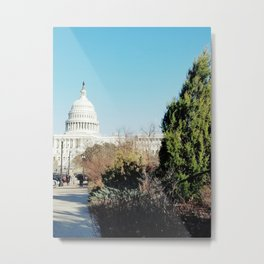 Capitol Among the Bushes Metal Print