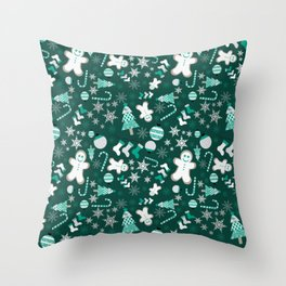 Emerald City Christmas Delights Throw Pillow