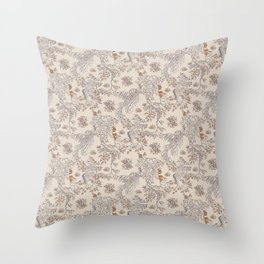 Party Critters in Cream ( leafy sea dragon in cream and coral ) Throw Pillow