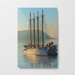 Bar Harbor Nautical Ship Print Metal Print