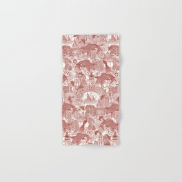 chinoiserie toile red Hand & Bath Towel